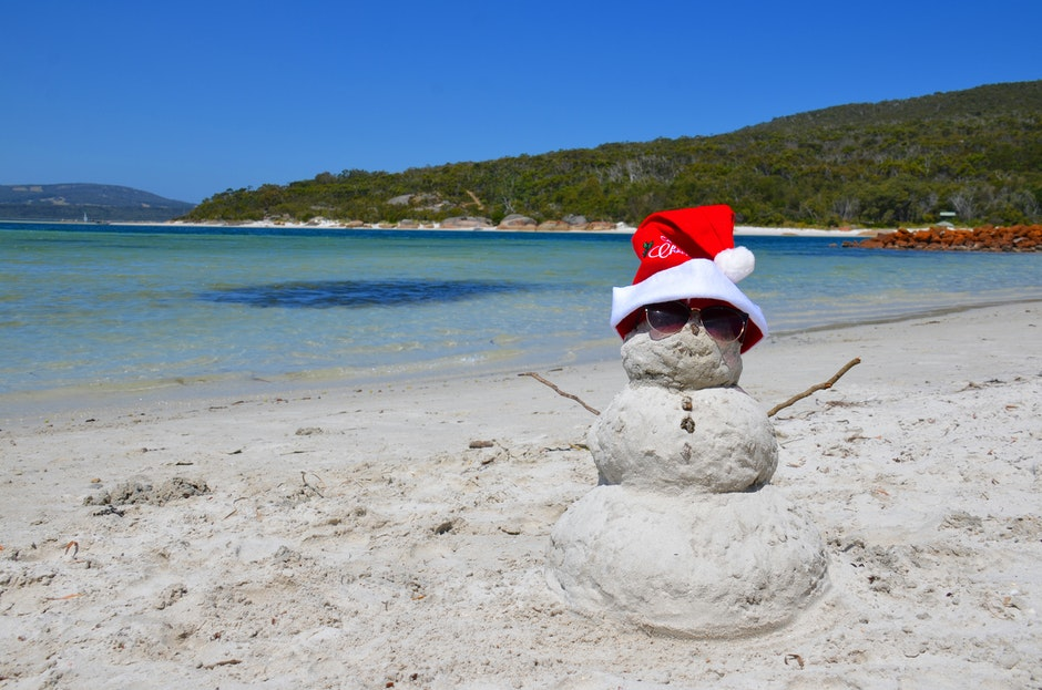 aussie summer, beach, merry christmas