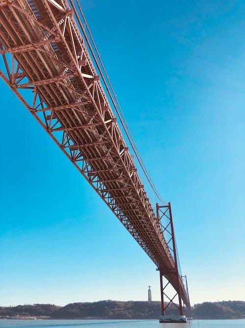 Gratis stockfoto met 25 de abril brug, architectuur, blauwe lucht, brug