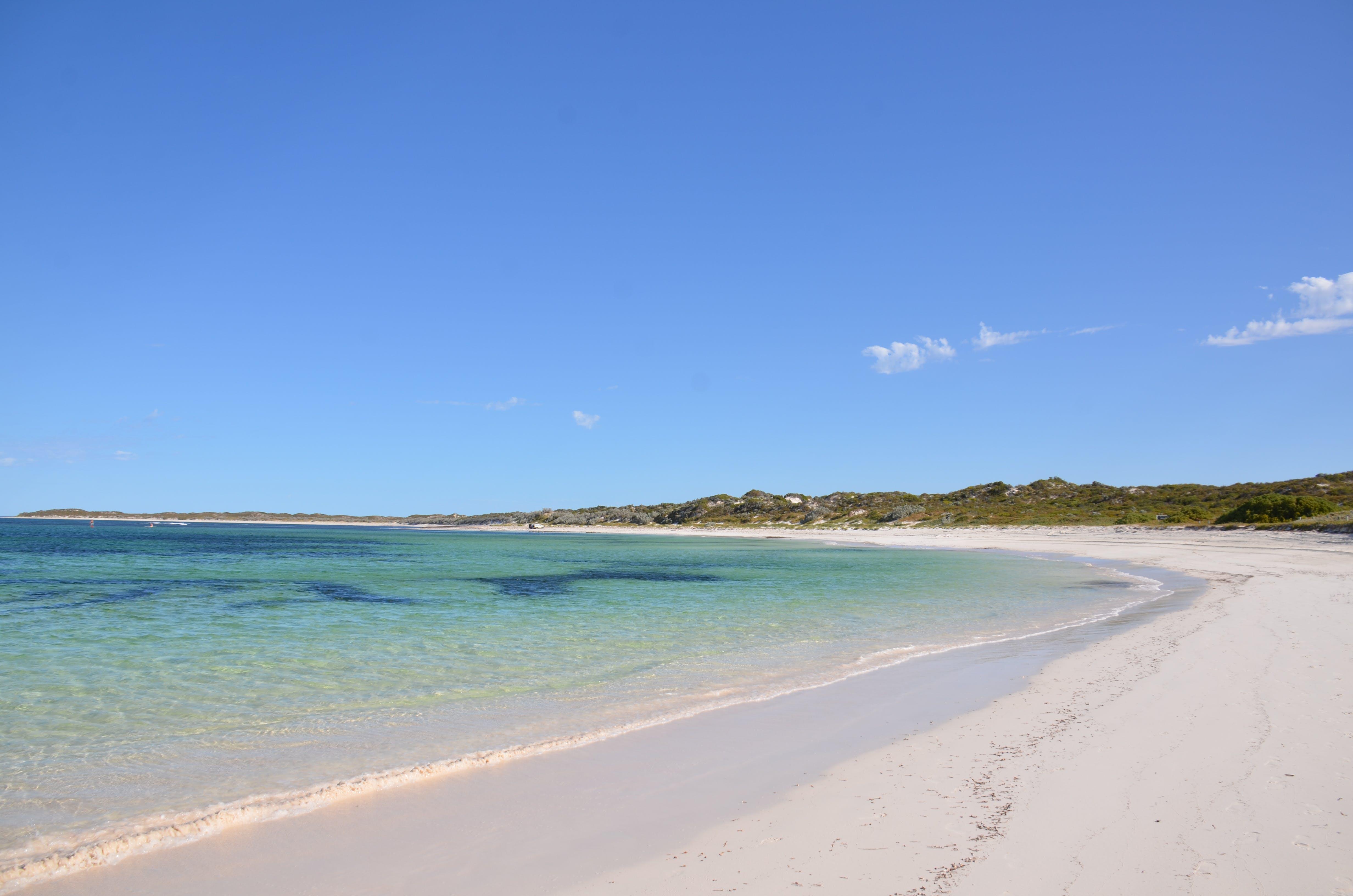 Free stock photo of hang over bay western australia, wide sweep of sandy beach