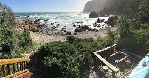 Foto stok gratis afrika selatan, gubuk pantai, jejak berang-berang, lautan