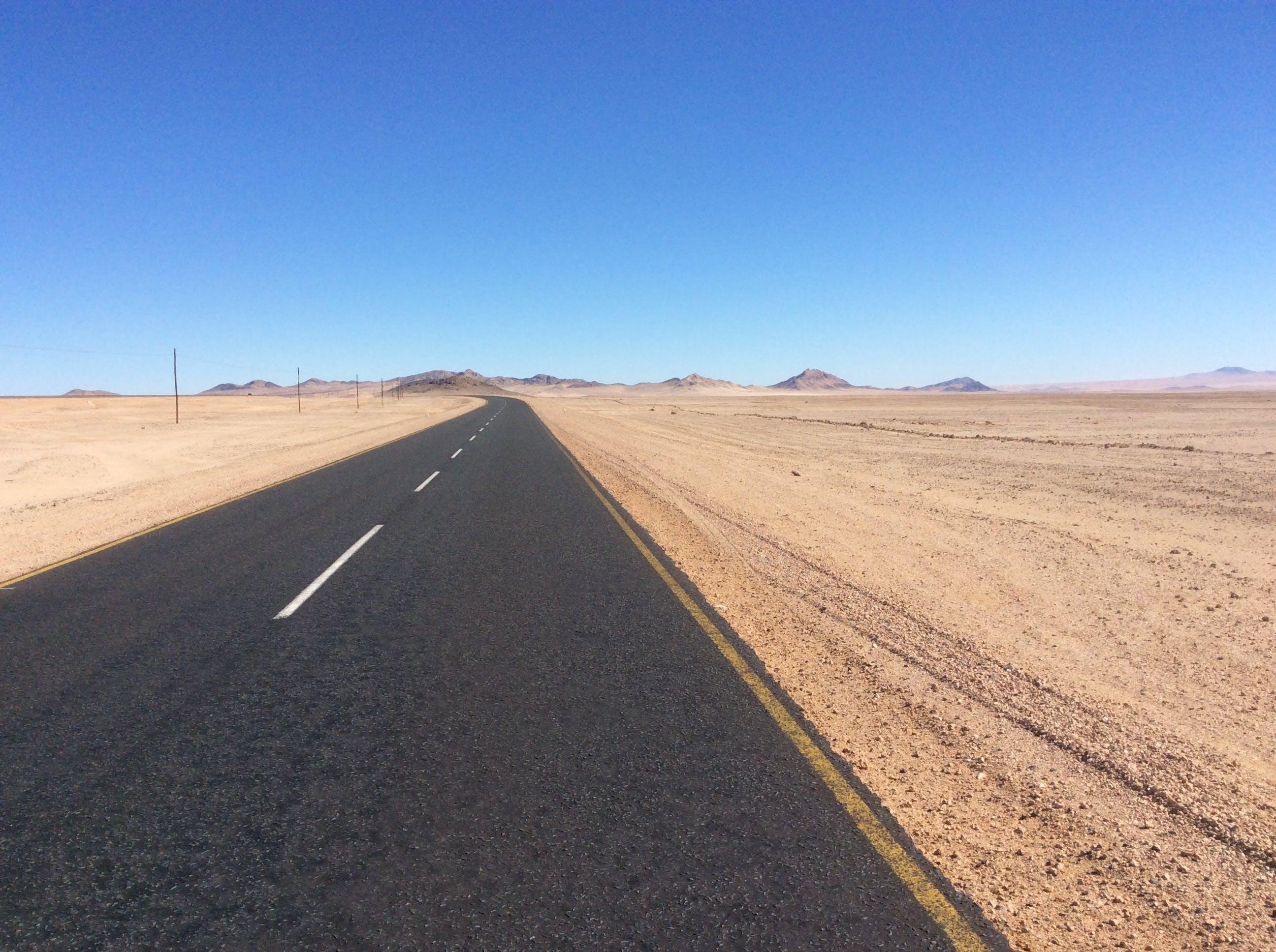 Free stock photo of desert, namibia, road