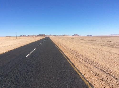 Foto stok gratis gurun pasir, jalan, namibia