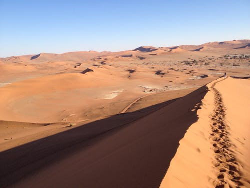 Foto stok gratis bukit pasir, gurun pasir, jalan kecil, namibia