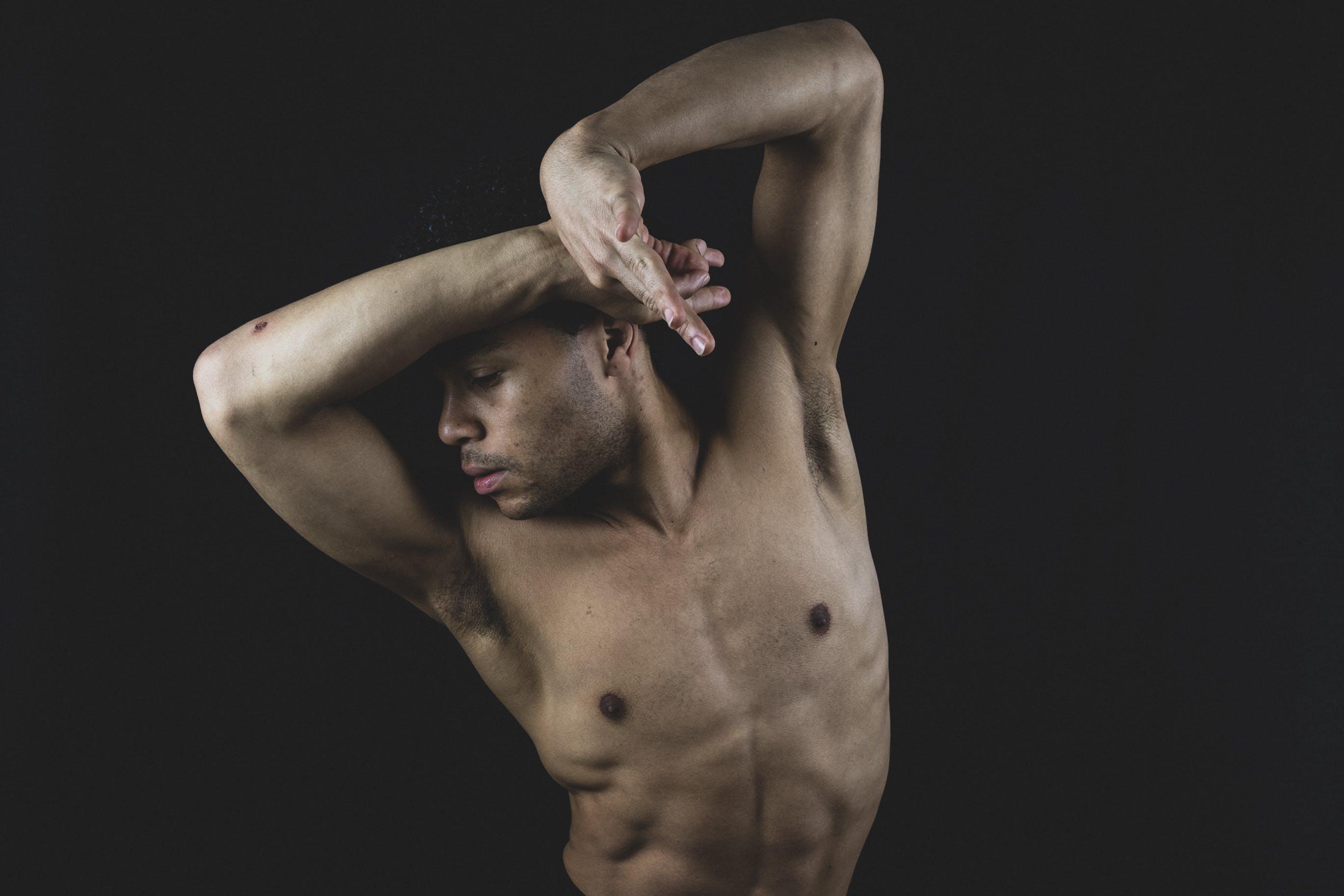 Topless Man Posing