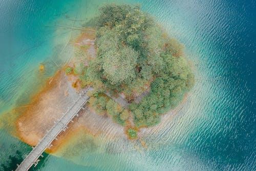 Foto stok gratis air, alam, damai, fotografi drone