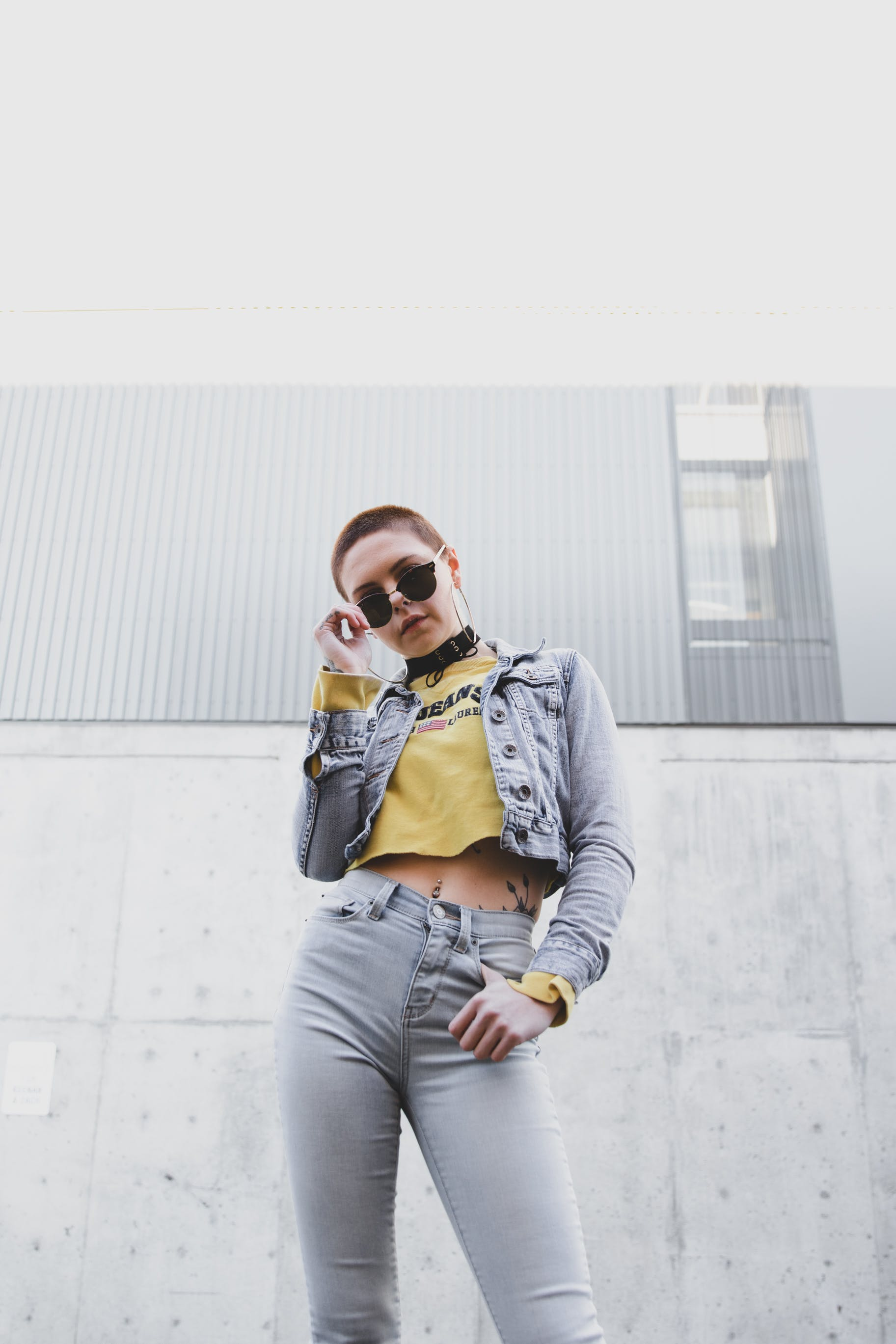 Woman Holding Black Sunglasses Outdoor