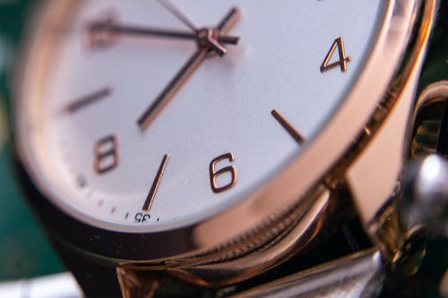 Free stock photo of analog watch, hands of watch, macro