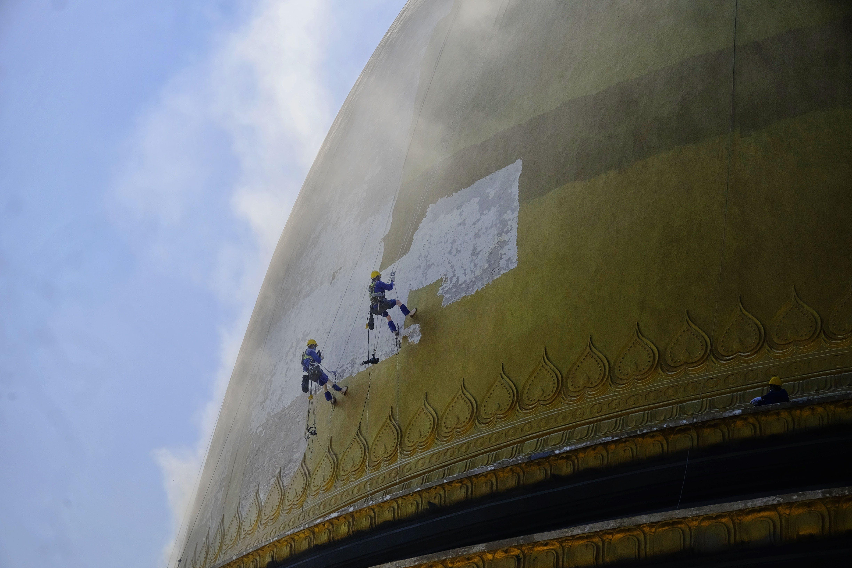 Kostenloses Stock Foto zu bergsteiger, golden, pagode