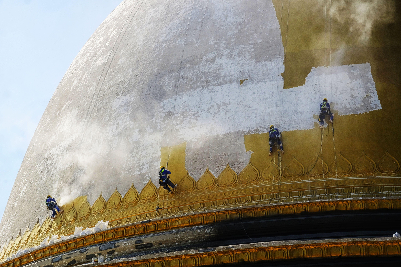 Fotos de stock gratuitas de alpinista, dorado, escaladores, pagoda