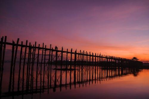 Free stock photo of bridge, old bridge, sunset