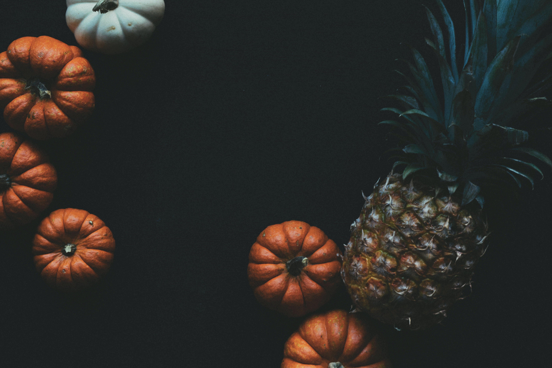autumn, black background, copy space