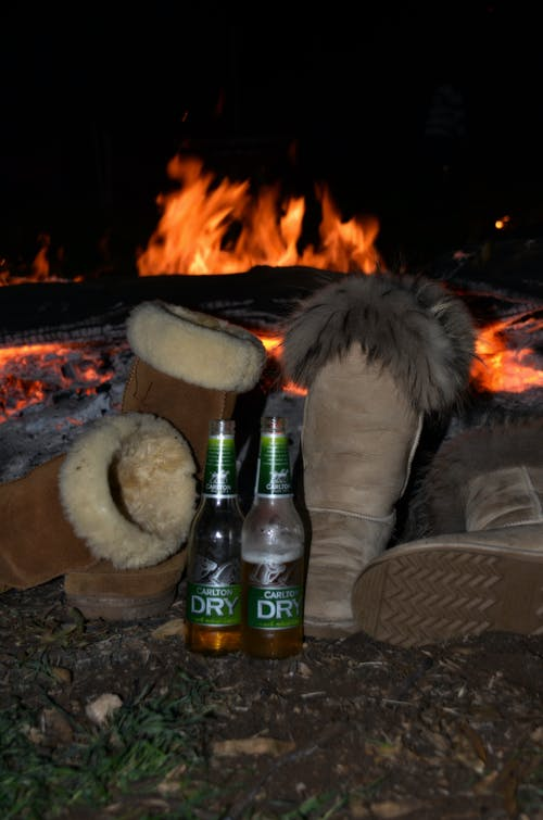 Free stock photo of beer, fire, uggboots, winter