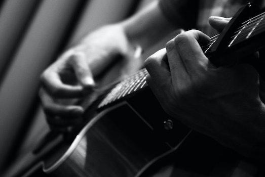 Kostenloses Stock Foto zu musik, akustische gitarre
