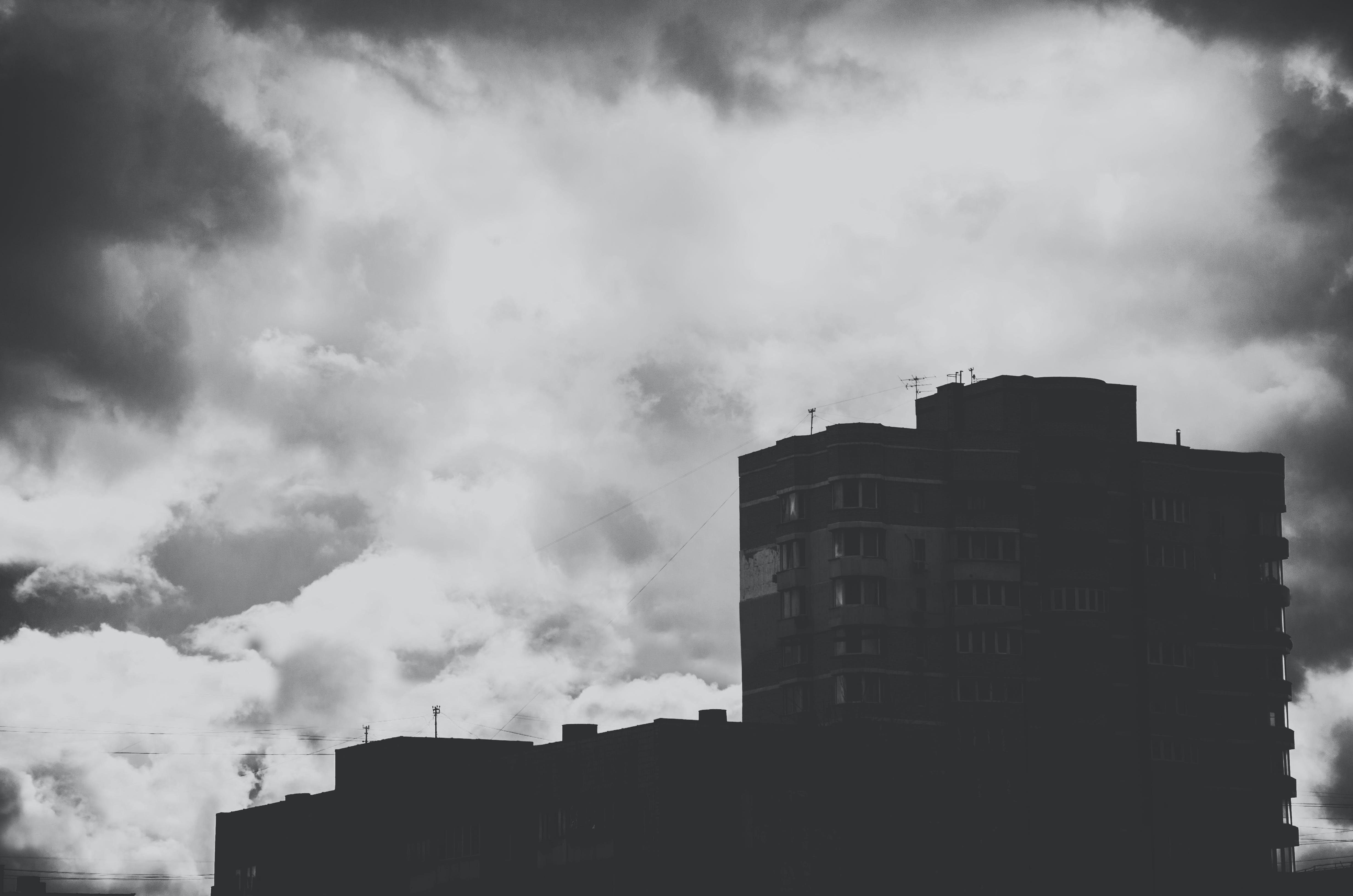 gebäude, schwarz und weiß, stadt