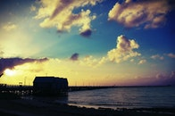 jetty, light, sea