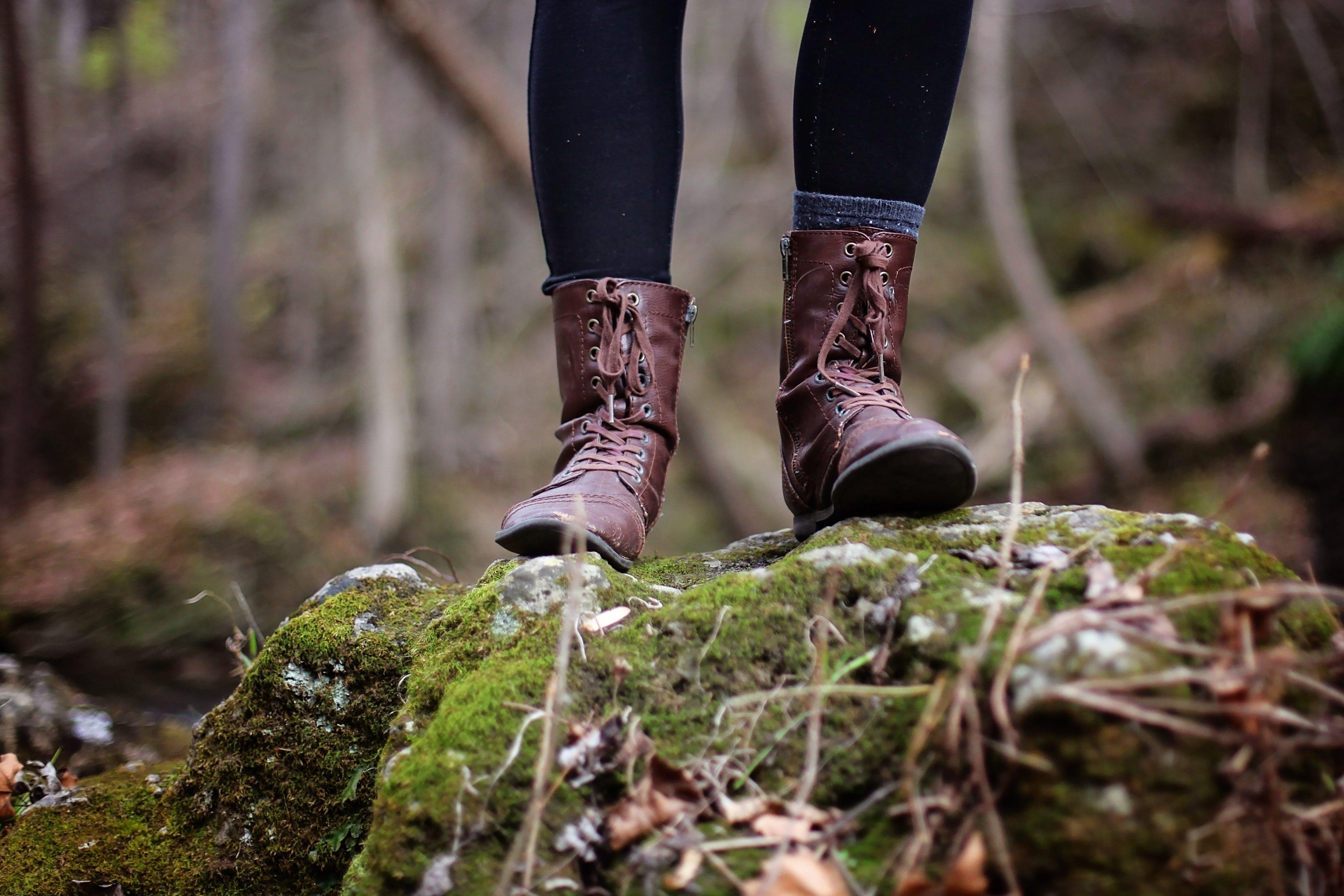 Ingyenes stockfotó cipő, csizma, erdő, fahasáb témában