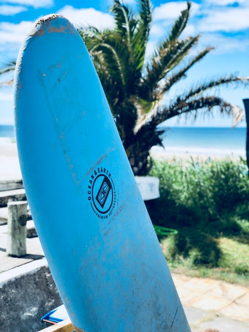 Blue Surf Board