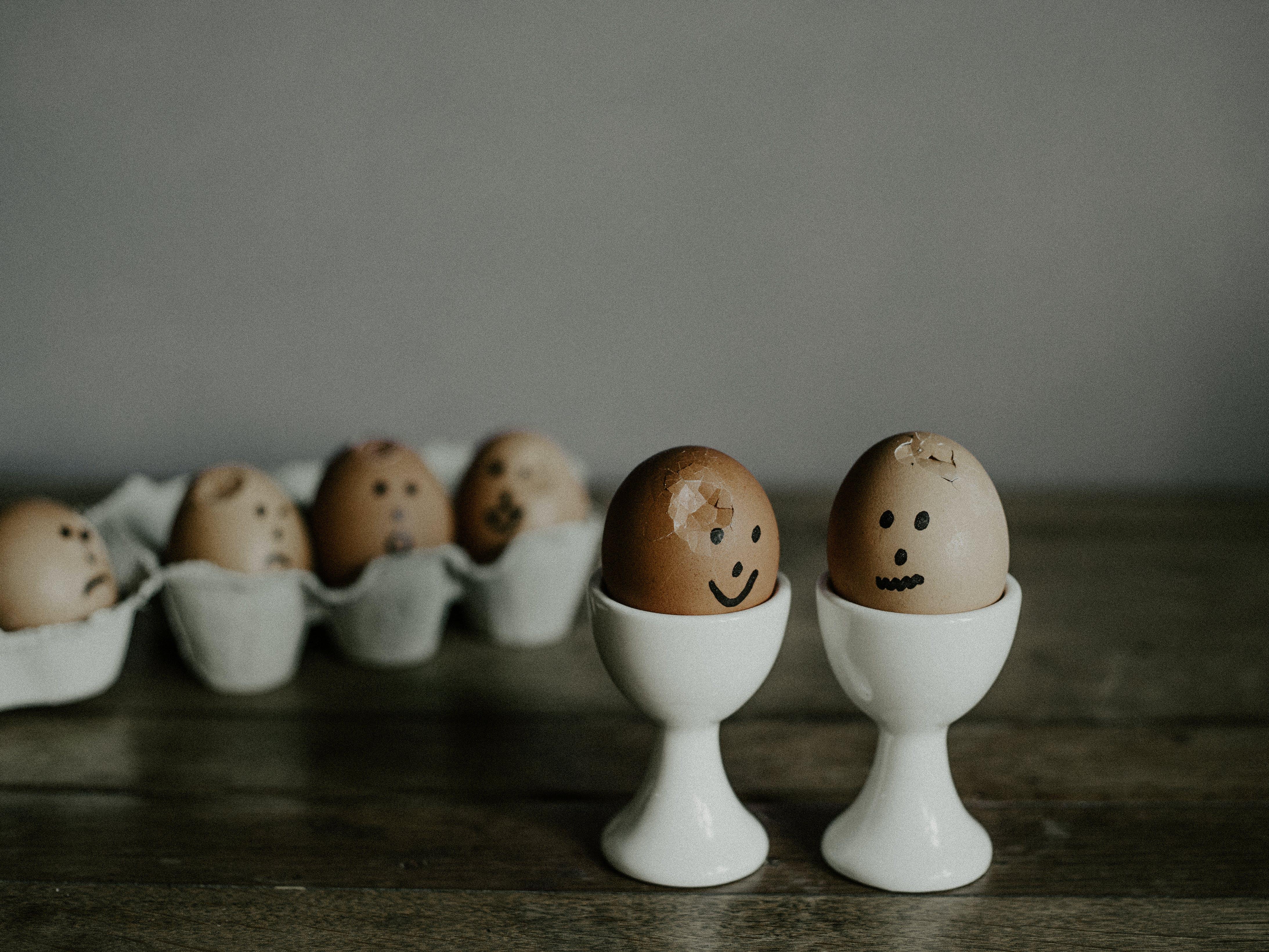 Foto stok gratis keramik, makanan, telur