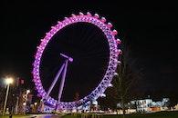 London UK, Millennium Wheel, giant ferris wheel