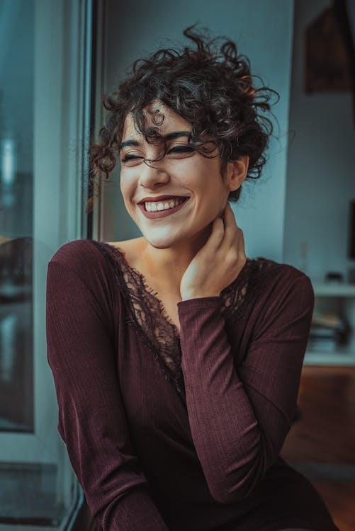 Woman Wearing Brown Longsleeve Top