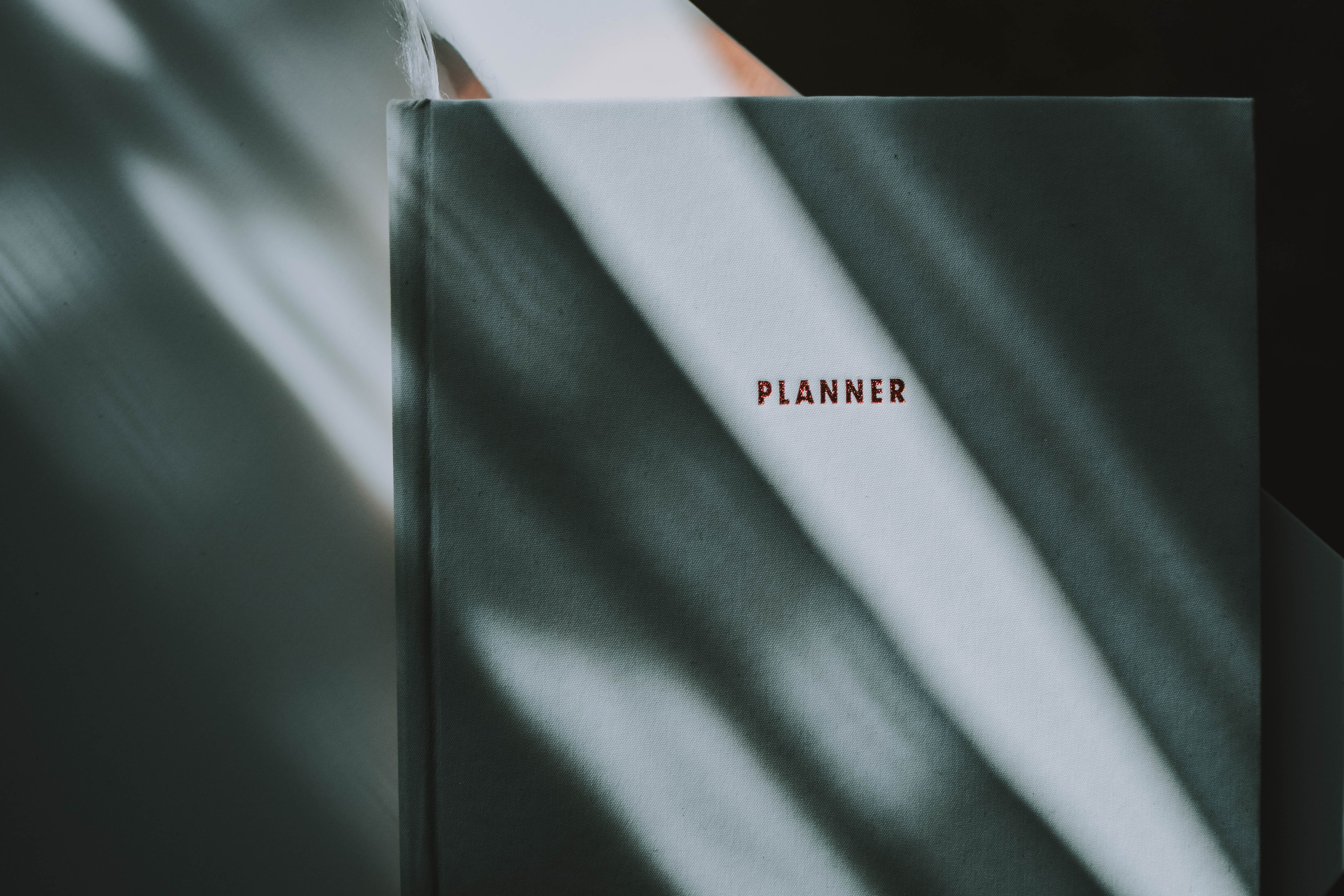 Black and White Planner Book