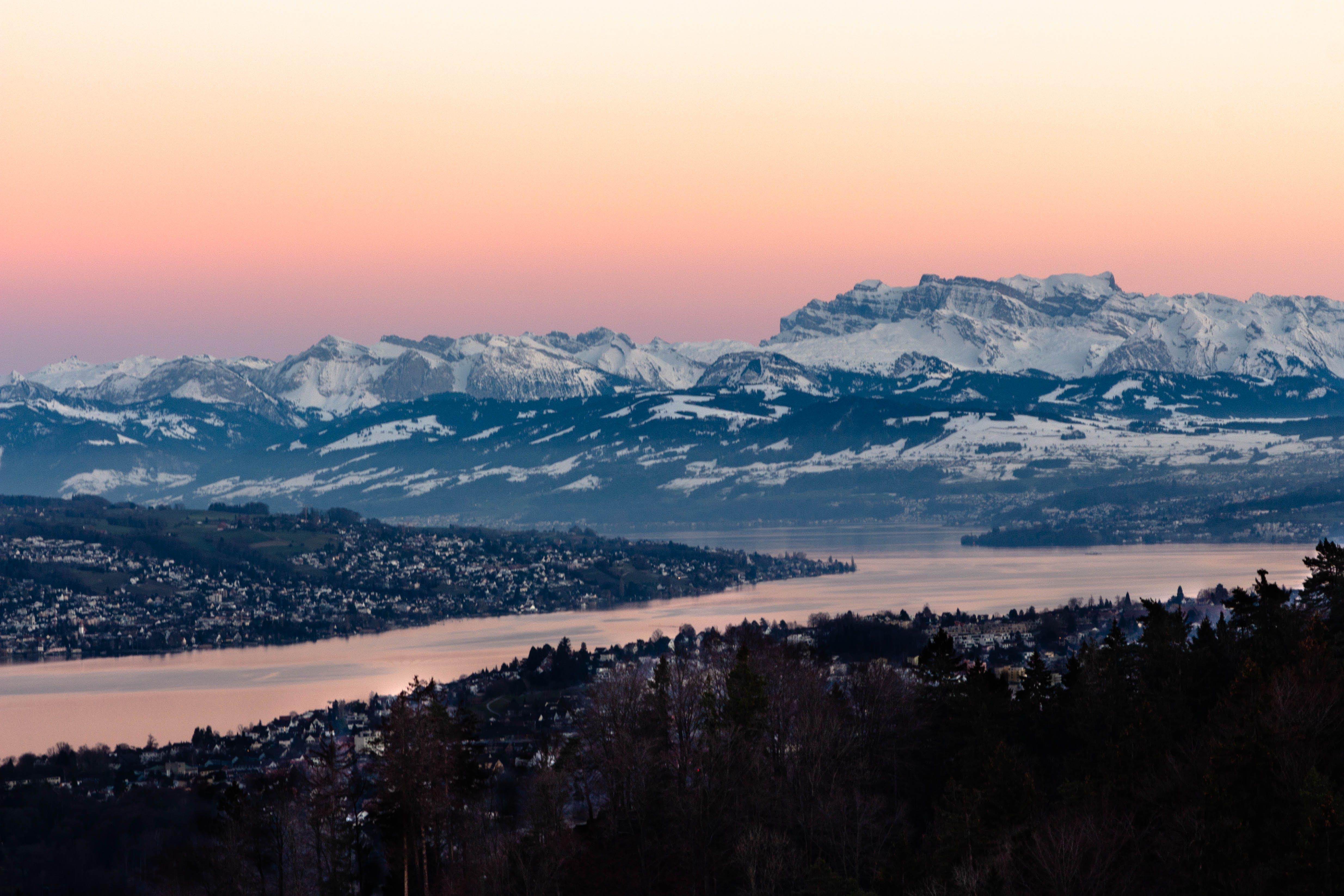 Free stock photo of alp, alps, beautiful view, golden sunset