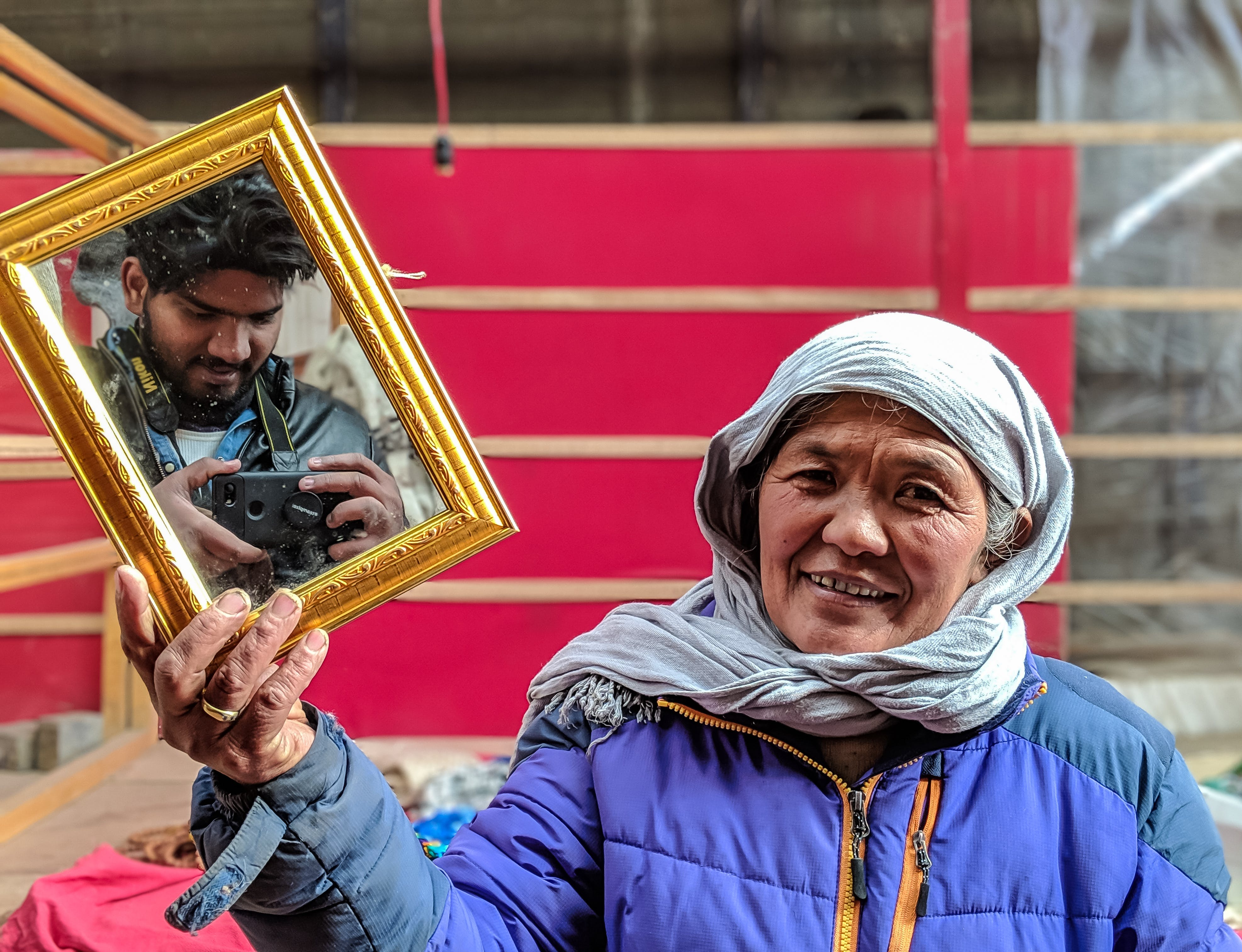 Woman Holding Mirror