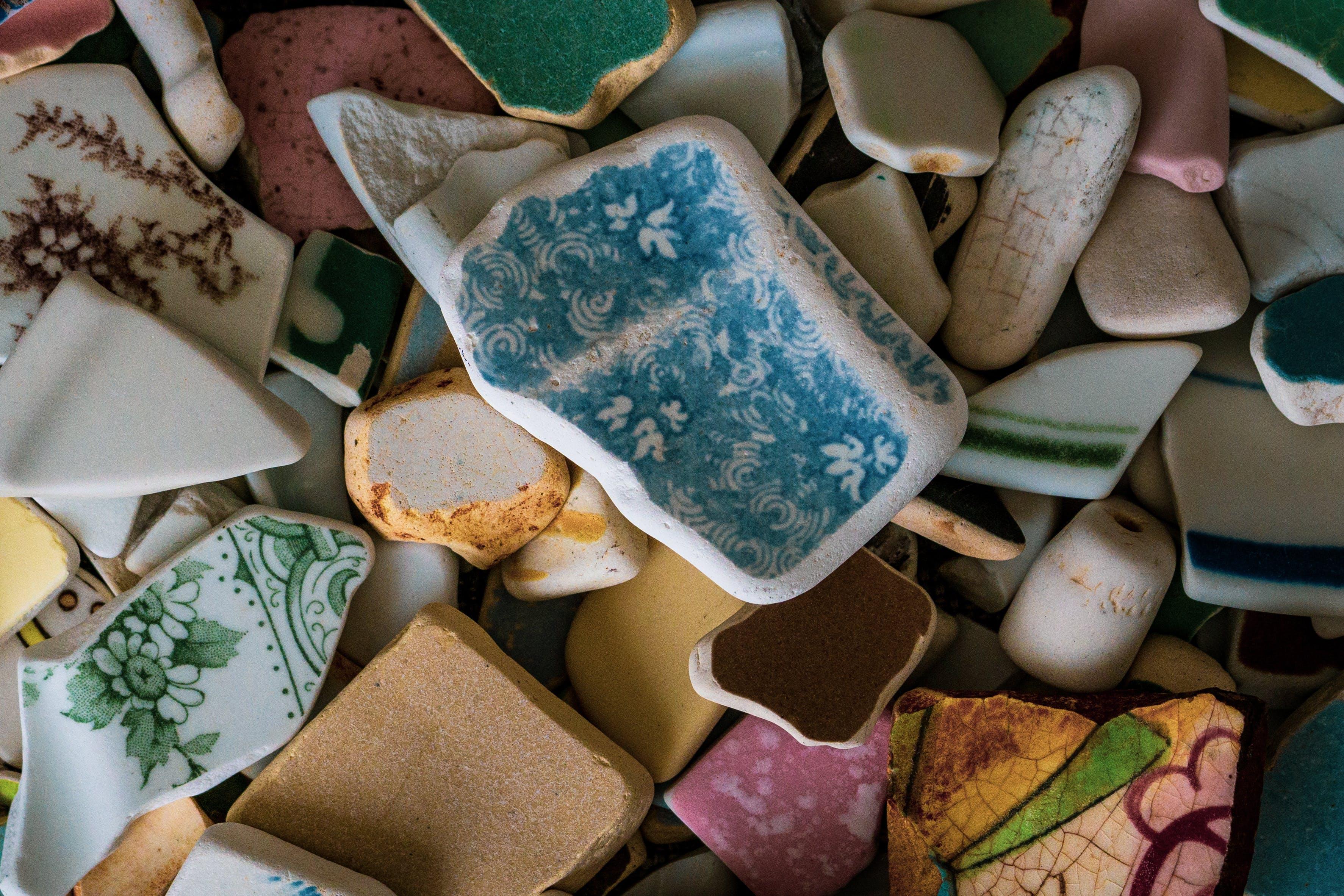 Základová fotografie zdarma na téma hrnčířství, makro, makro fotografie, mořské sklo