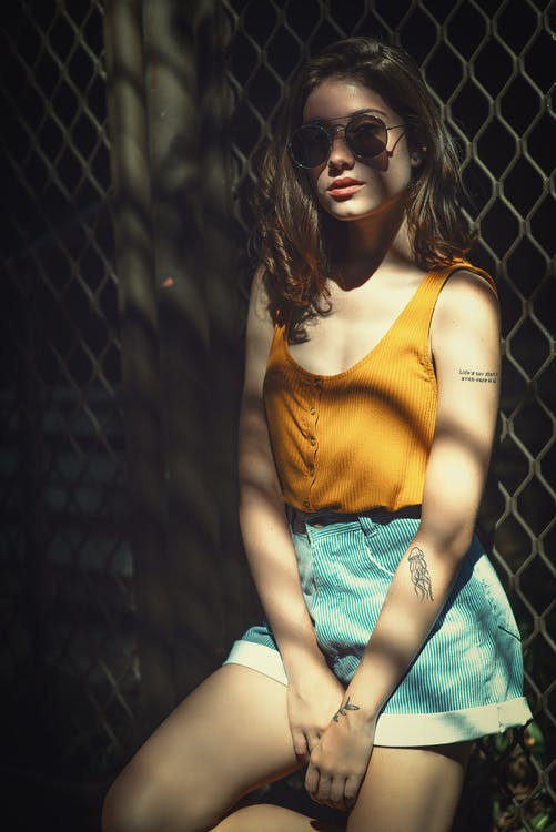 Woman Wearing Tank Top