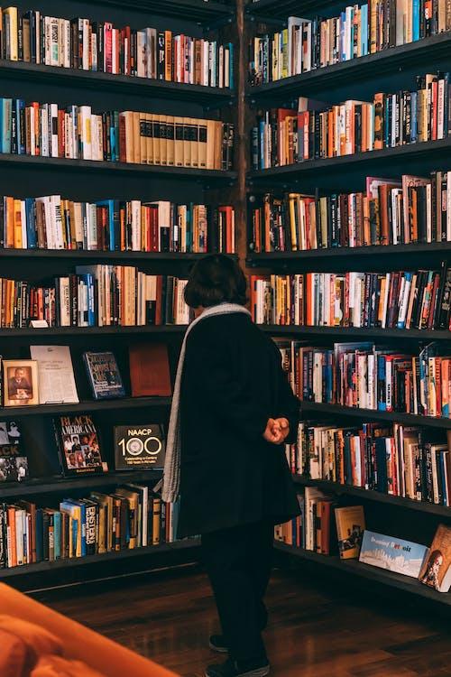 Foto stok gratis buku pelajaran, buku-buku, dalam ruangan, efek