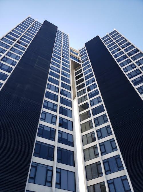 bakış açısı, bina, bina cephesi, cam pencereler içeren Ücretsiz stok fotoğraf