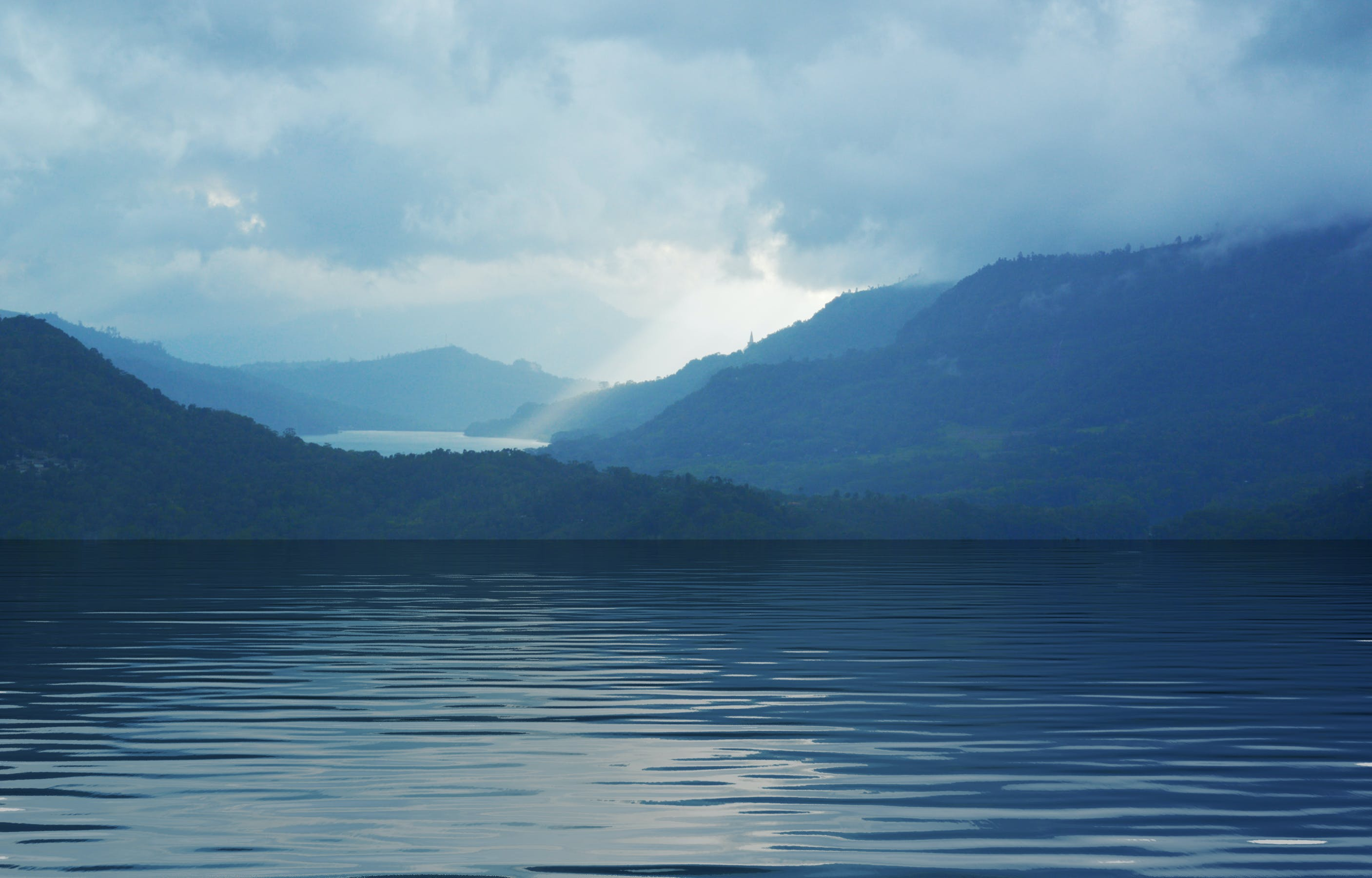 Free stock photo of blue mountains, blue water, blue waters, mountain