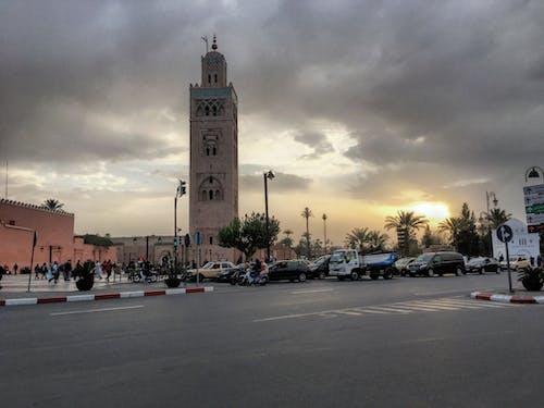 大清真寺, 天空, 摩洛哥, 旅遊 的 免费素材照片