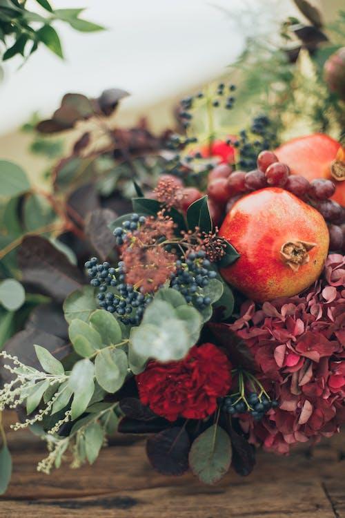 건강한, 과일, 나뭇잎