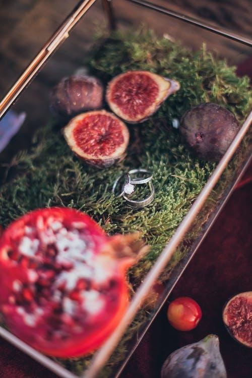 과일, 맛있는, 보석, 웨딩 반지의 무료 스톡 사진