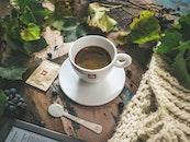 food, wood, coffee