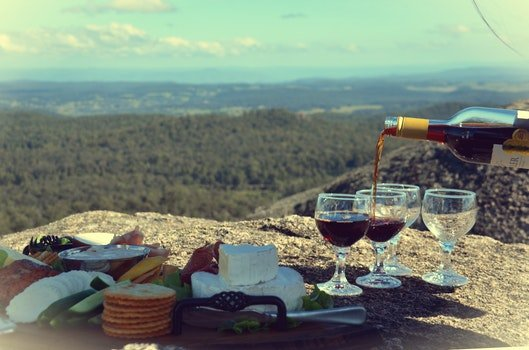 Free stock photo of food, cheese, muscat, wine pouring into glass