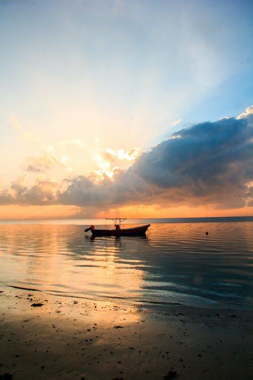 Photos gratuites de lever de soleil, promenade sur la plage