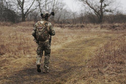 Gratis arkivbilde med bevæpnet, gå, gress, hær