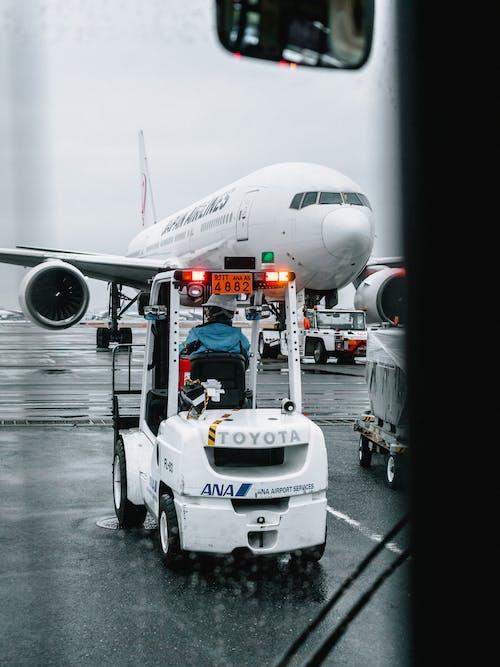 Foto d'estoc gratuïta de aeròdrom, aerolínia, aeroport, ala d'avió