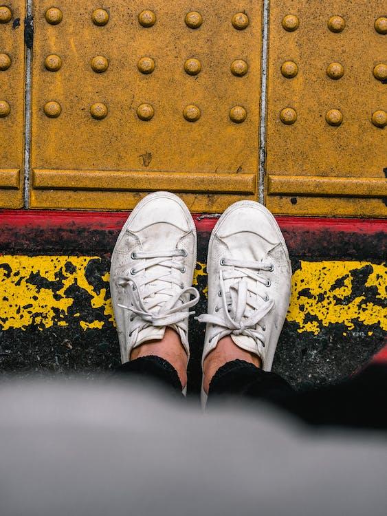 dây giày, độ sâu trường ảnh, đứng