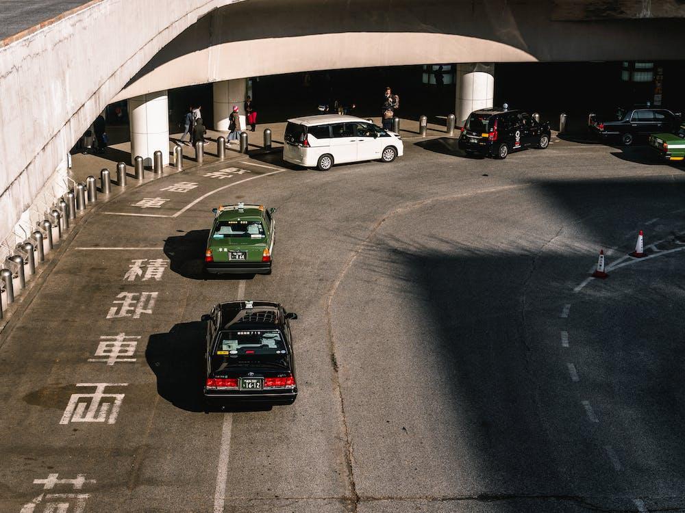 architectuur, asfalt, auto