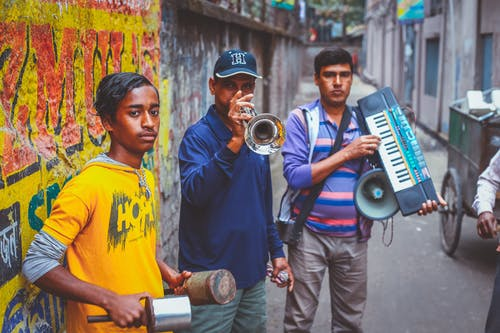 Imagine de stoc gratuită din bărbați, culori, echipamente muzicale