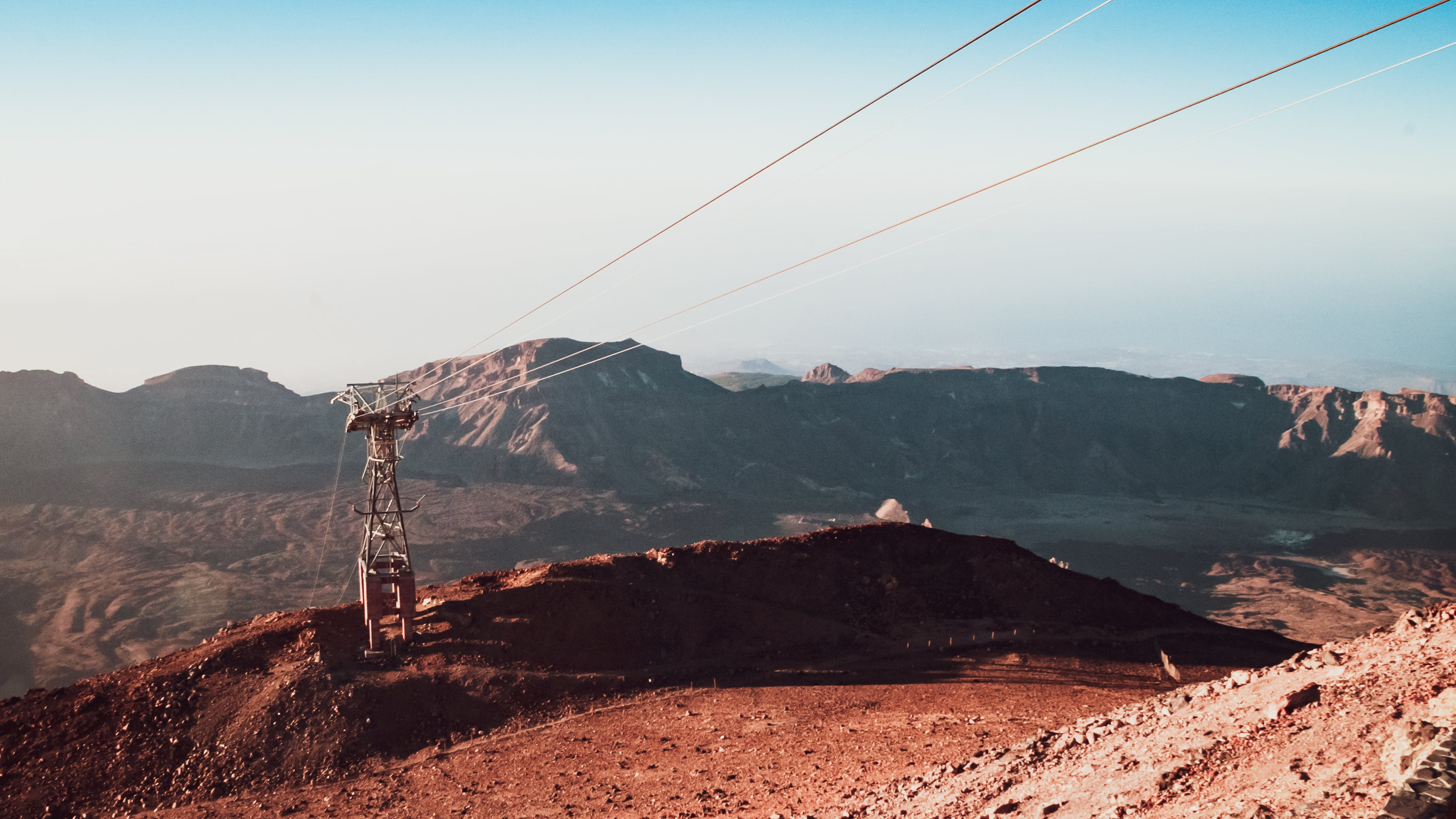 Free stock photo of blue sky, cable car, climbing, environment