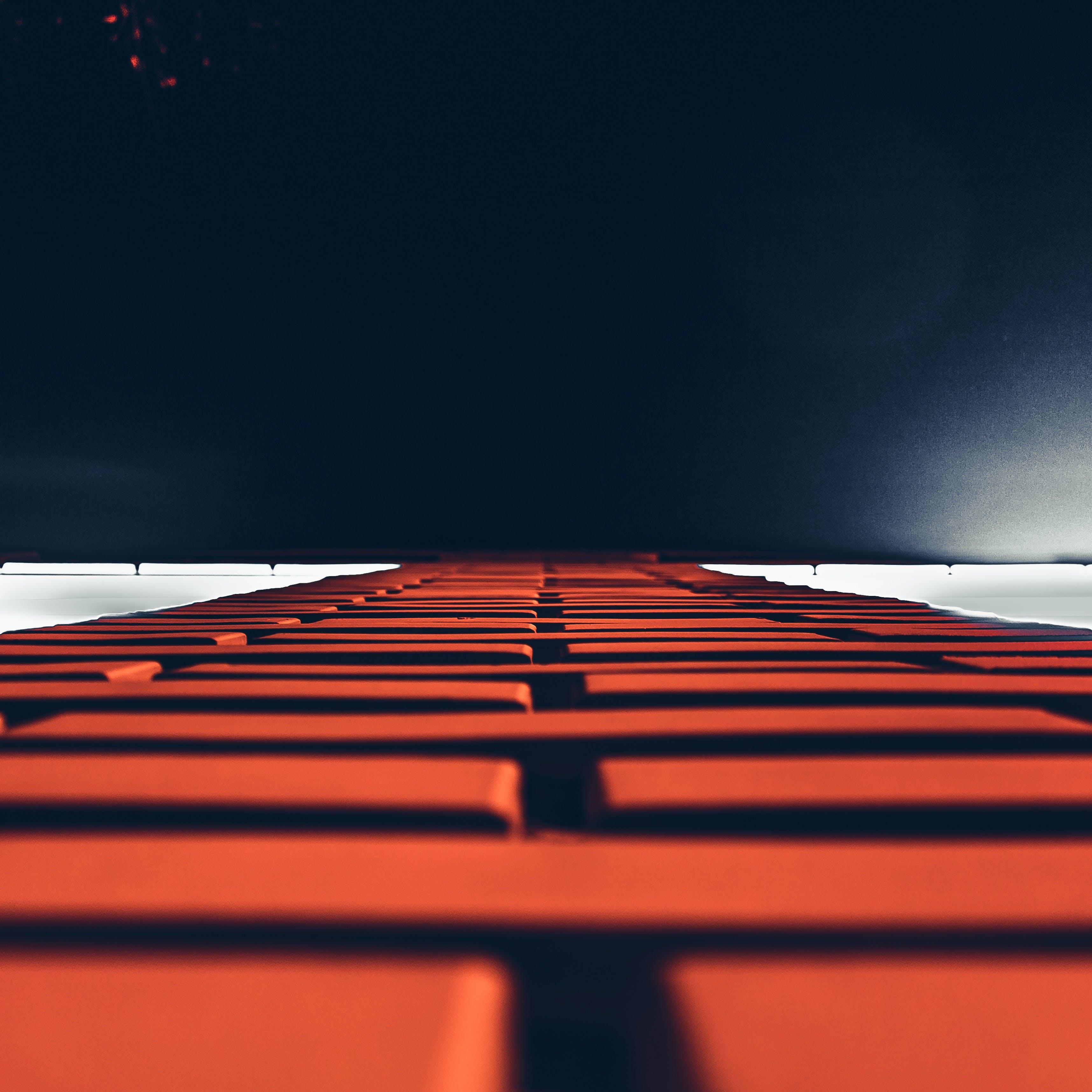 of bricks, brickwork, close-up, dark