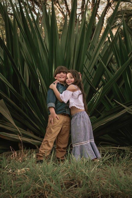 Kostnadsfri bild av bror, flicka, förtjusande, gräs