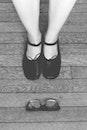 wood, black-and-white, feet