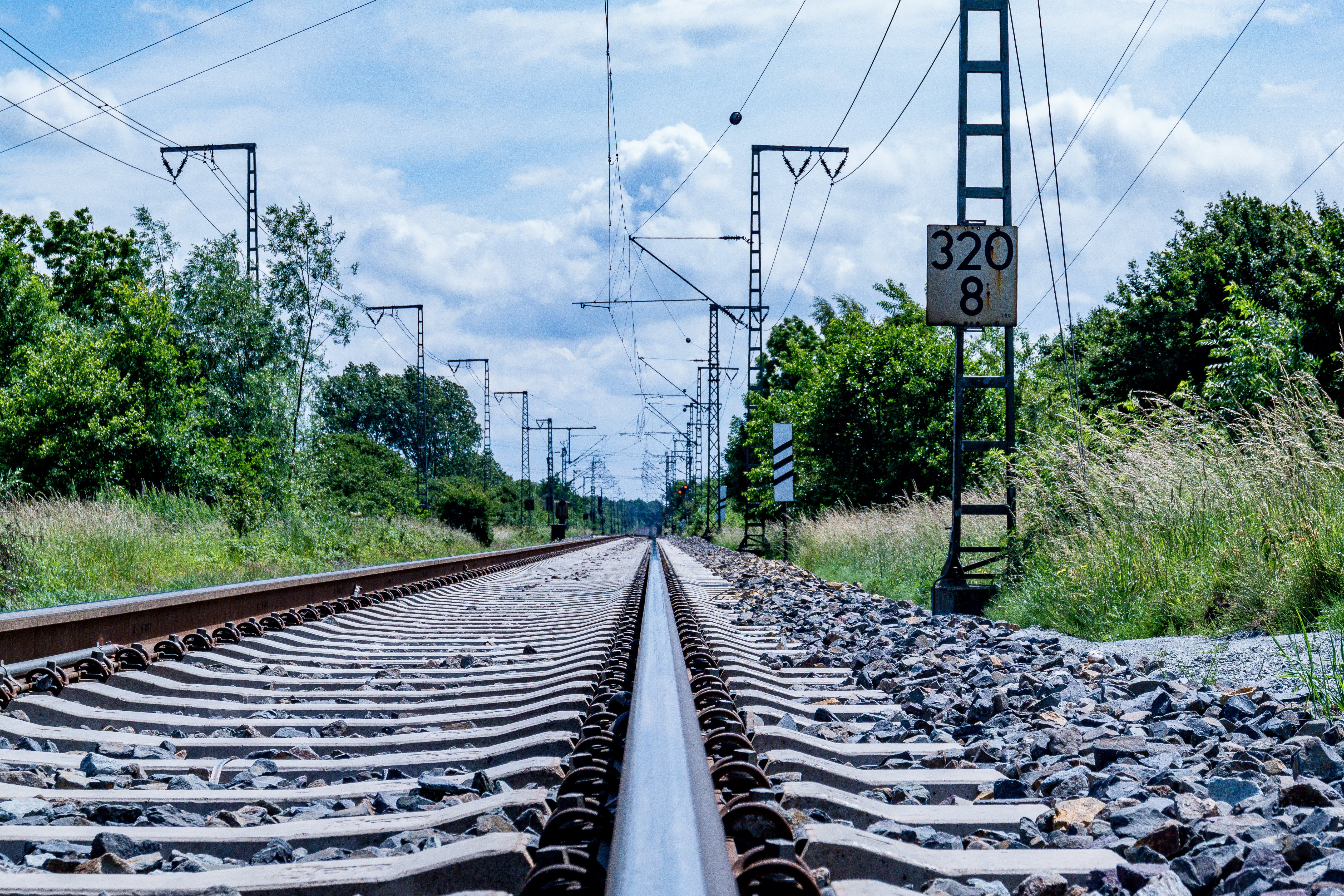 Clear Photo of Train Rail during Daytime