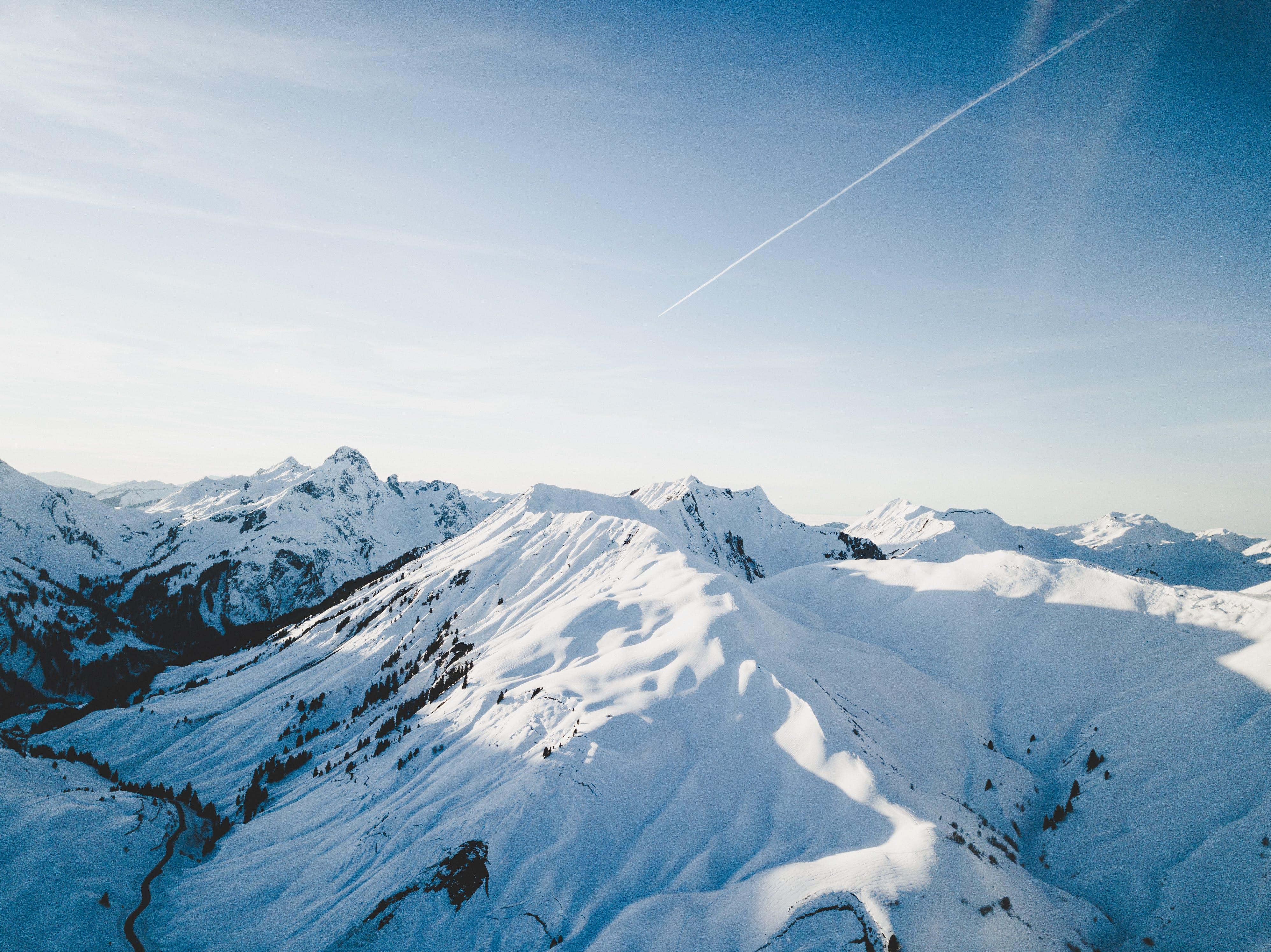 Immagine gratuita di alto, ambiente, congelato, fotografia della natura
