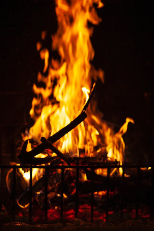 Bonfire Close-up Photo